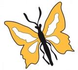 Schmetterling gelb klein