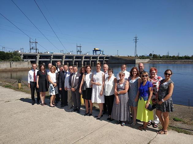 Delegation Eichenau, Budrio in Wischgorod aug. 2018