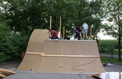 Bau Skateanlage 2019