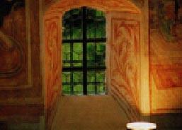 Kapelle Roggenstein Innenfenster