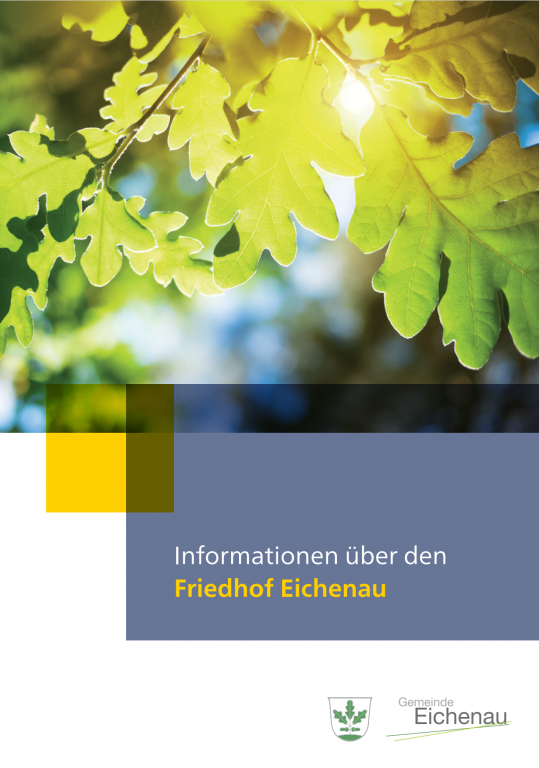 Bild Cover Broschüre Friedhof 2021